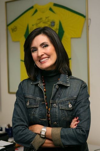 A repórter Fátima Bernardes, antes da cobertura da Copa do Mundo de 2006. Ela era considerada a