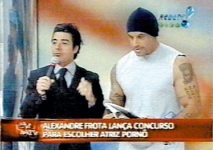 Com o ator Alexandre Frota durante o programa