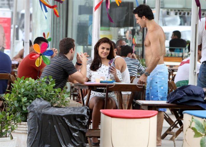 Eduardo (Rodrigo Andrade), Alice (Paloma Bernardi) e Hugo (Marcos Damigo) em gravação de cena de