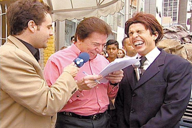 Rodrigo Scarpa (à esq.), o Repórter Vesgo, e Wellington Muniz (à dir.), o Ceará, do programa