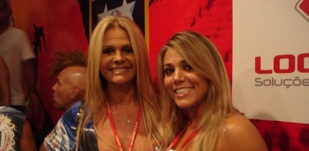 Fabiana com a ex-modelo Monique Evans
