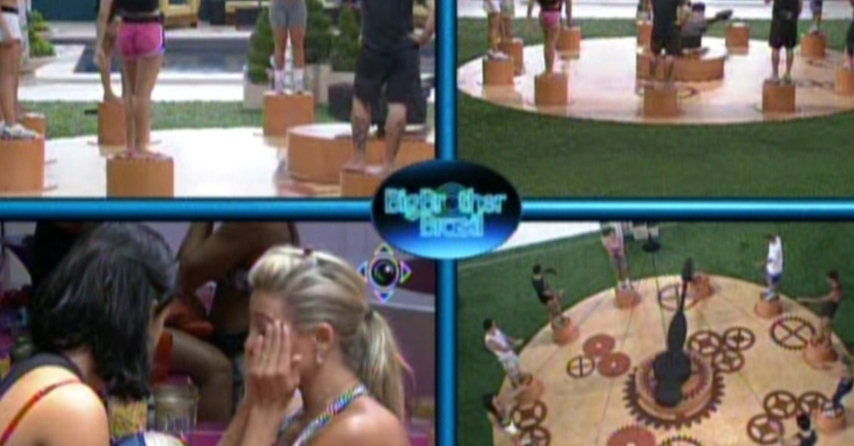 Jakeline e Fabiana conversam e choram na cozinha (19/1/12)