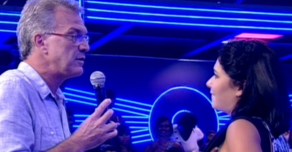 Pedro Bial entrevista Jaqueline aps eliminao da sister do 
