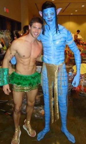 A foto do modelo Jonas foi postada por Paula Leite em sua página no Twitter (3/2/2012)