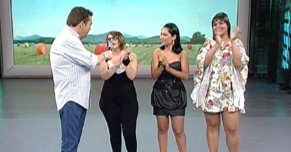 Fausto conversa com Mayara, Jakeline e Analice no 