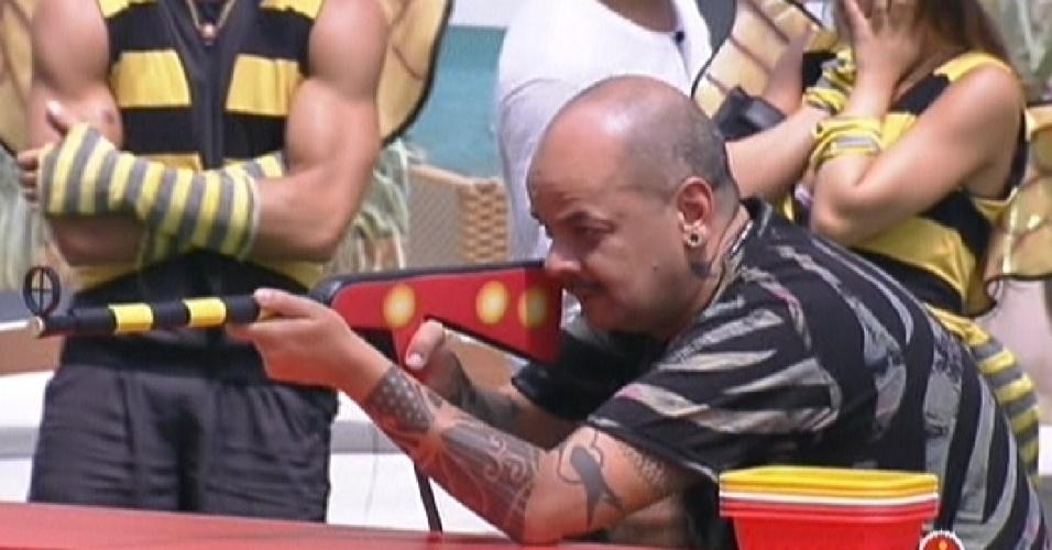 João Carvalho conseguiu 400 estalecas na prova da comida deste domingo (5/2/2012)