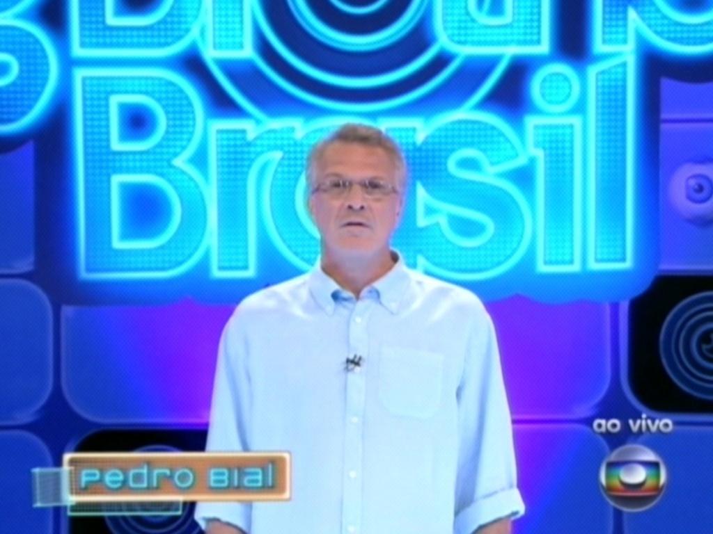 Pedro Bial fala com os confinados no dia da prova que dá o poder do não (6/2/12)
