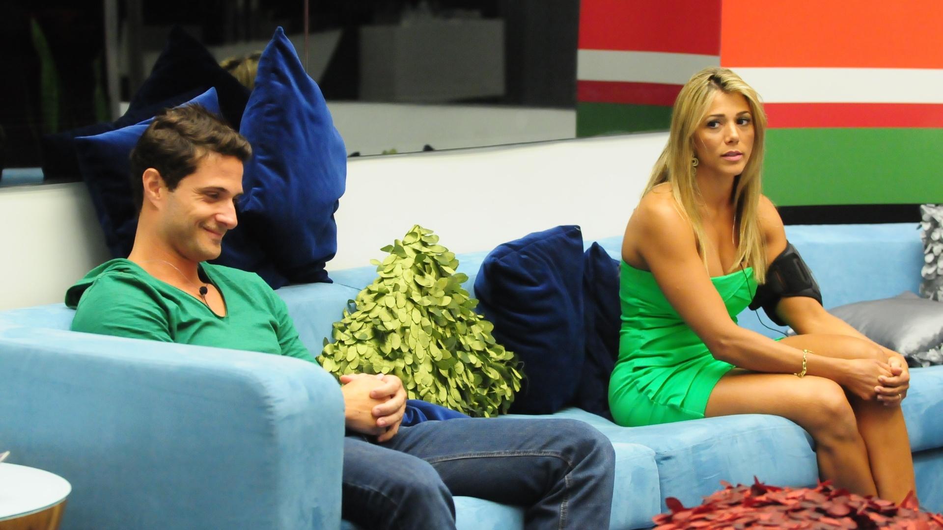 Ronaldo e Fabiana estão no quarto paredão do BBB12 (5/2/2012)