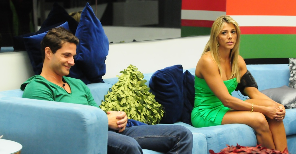 Ronaldo e Fabiana esto no quarto paredo do BBB12 (5/2/2012)