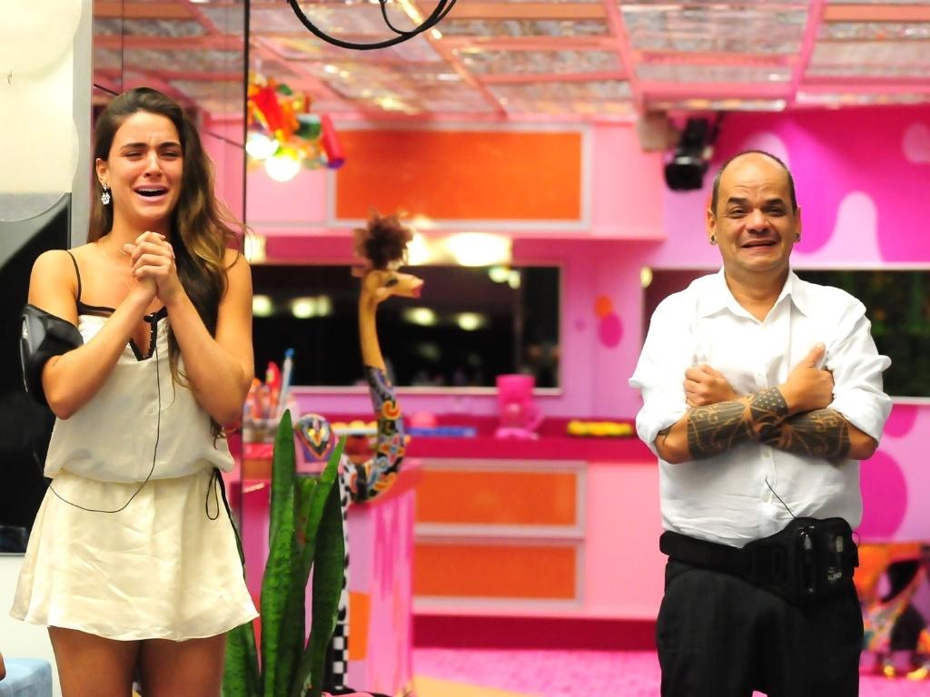 Laisa e João Carvalho minutos antes da eliminação da gaúcha (21/2/12)