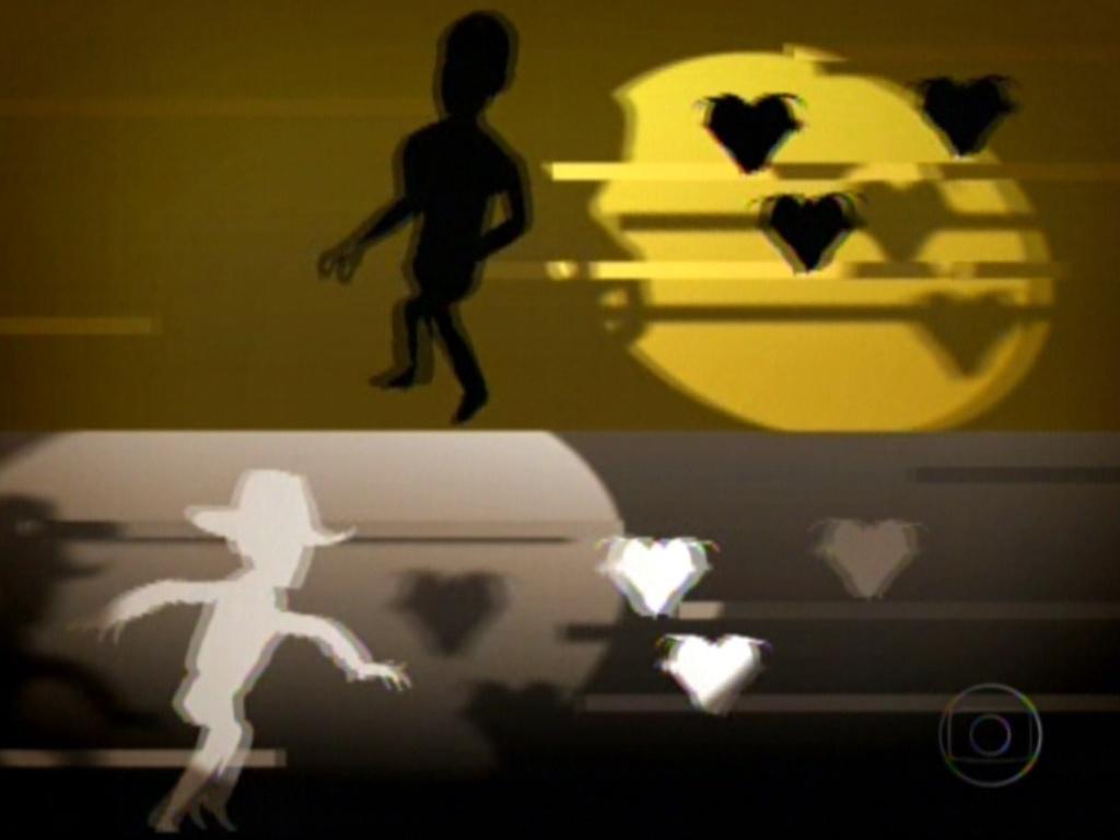 No primeiro quadrante, Jonas foge das meninas. No segundo, Fael corre atrás delas (6/3/12)