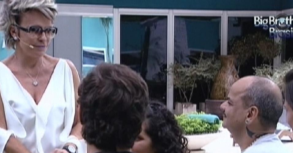 Ana Maria Braga conversa com Noemí, Fael, João Carvalho e Kelly (19/3/12)