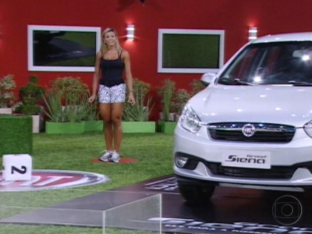 Fabiana ganha um carro na primeira parte da prova do líder desta quinta (22/3/12)