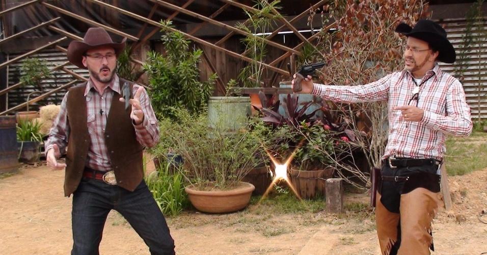 Britto Jr e Cabrito Jr, personagem de Tom Cavalcante, duelam em encontro que vai ar na véspera do fim de