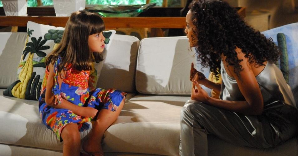 Cena de Viver a Vida: Rafaela (Klara Castanho) e Helena (Taís Araújo) (8/2/2010)
