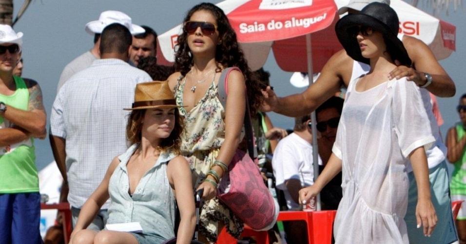 Alinne Moraes grava cenas de