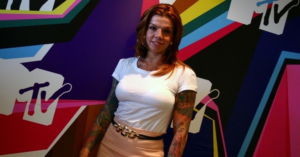 Penélope, na coletiva de imprensa da MTV (24/2/2010)
