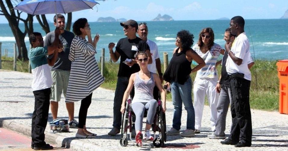 Lília Cabral e Alinne Moraes gravam cenas de