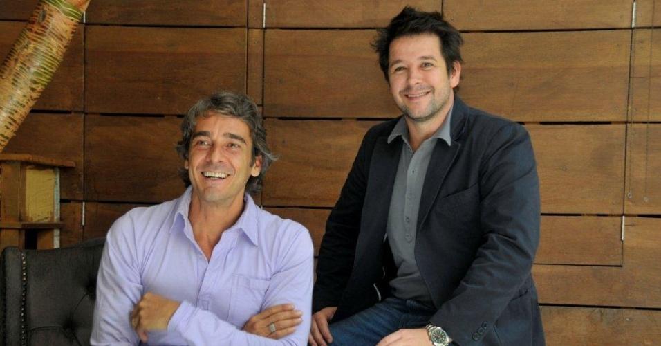 Alexandre Borges e Murilo Benício em coletiva sobre a novela