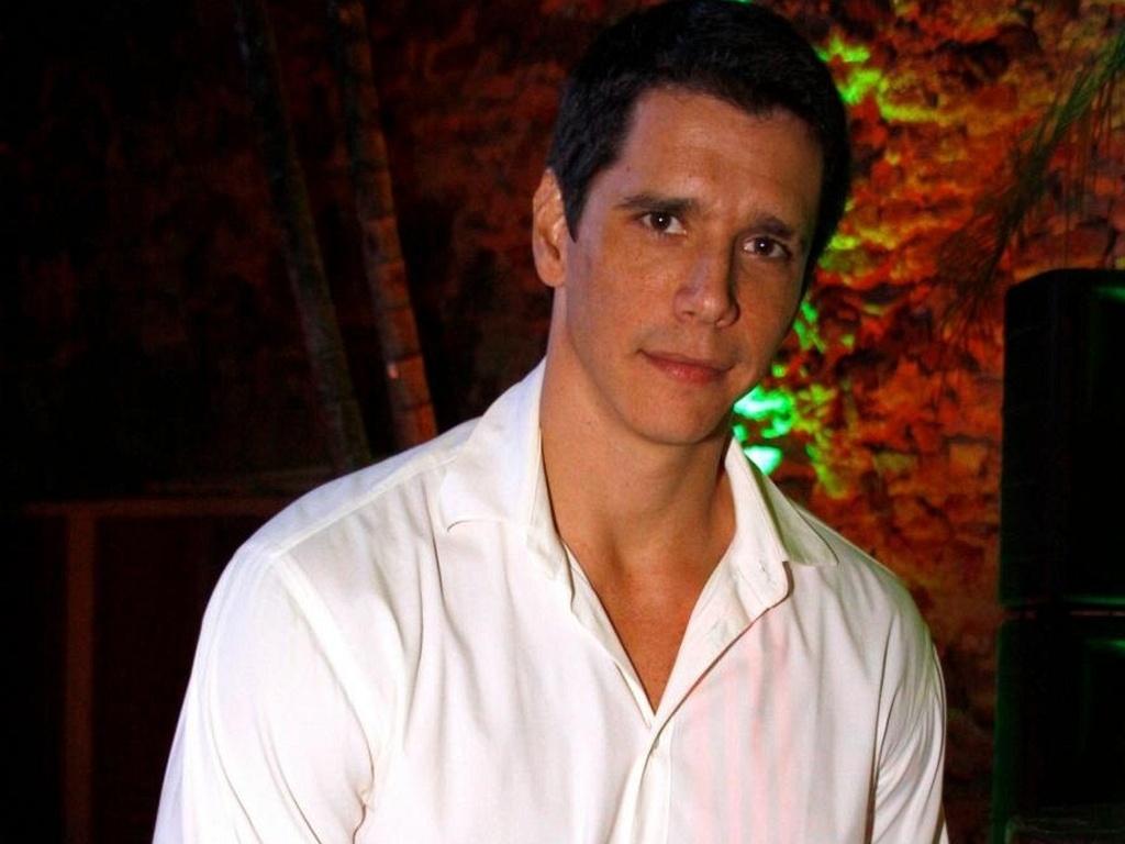 Márcio Garcia durante coletiva do seriado