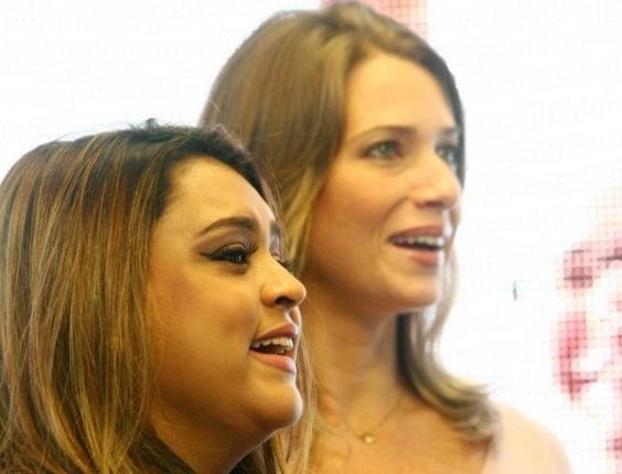 Preta Gil e Letícia Spiller durante gravação do programa