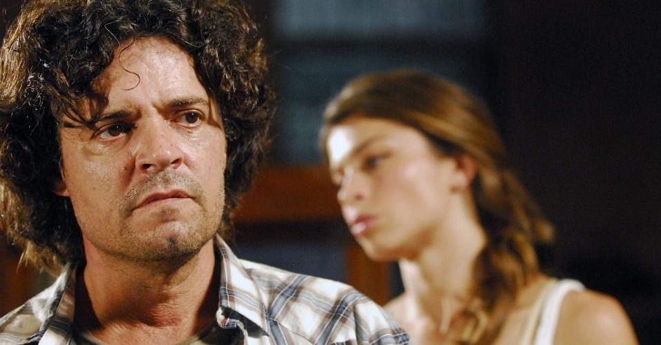 Felipe Camargo e Grazi Massafera durante gravação de