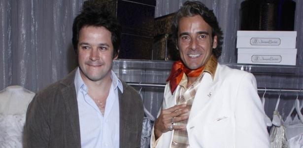 Murilo Benício e Alexandre Borges na coletiva de