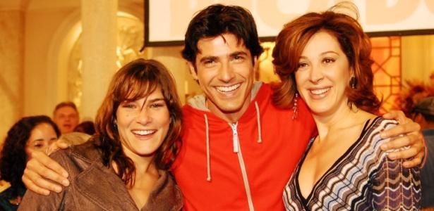 Priscila Fantin, Reynaldo Gianecchini e Claudia Raia em apresenta��o da novela Sete Pecados para a imprensa (2007)