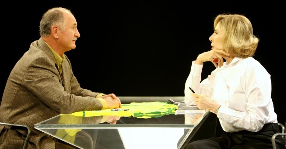 O técnico do Palmeiras, Luiz Felipe Scolari é o entrevistado de Marília Gabriela no