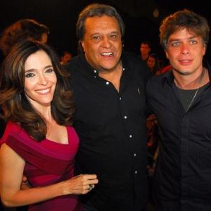 A atriz Deborah Evelyn, o diretor Dennis Carvalho e o ator Fabio Assunção, que trabalharam juntos e