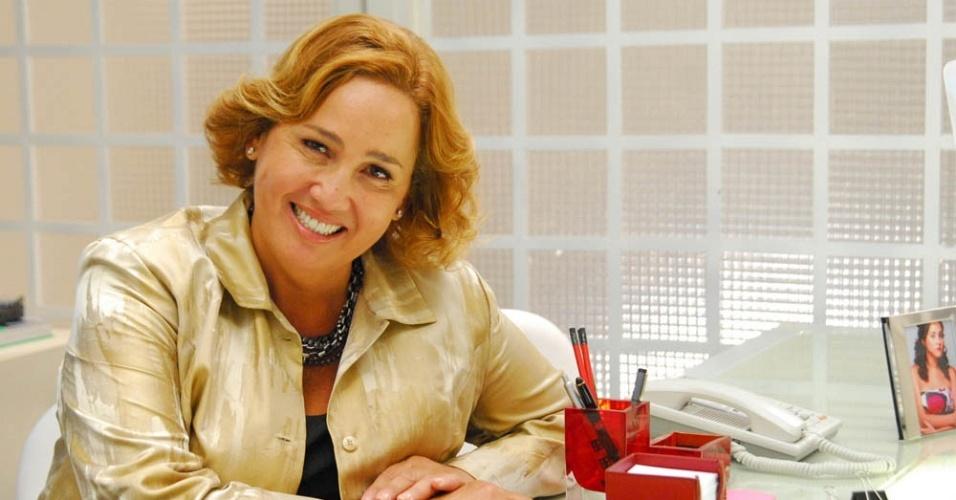 Cláudia Jimenez durante gravação de