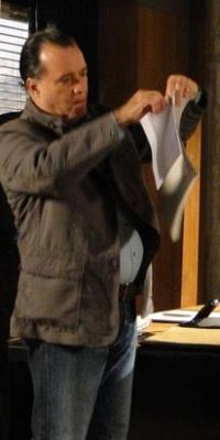 Tony Ramos e Reynaldo Gianecchini durante gravação de