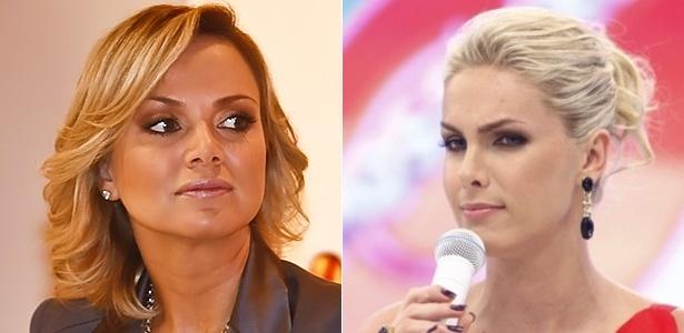 As apresentadoras Eliana (esq.) e Ana Hickmann, que disputam a audiência de domingo