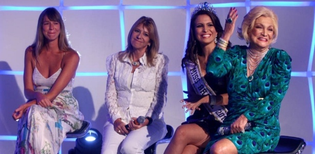 Luana Piovani, Ilana Casoy, Kamilla Salgado e Hebe Camargo no programa 