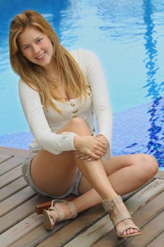 A atriz Sophia Abrahão (29/9/2010)