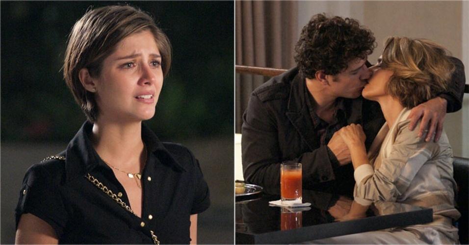 Lorena (Tammy Di Calafiori) flagra Stela (Maitê Proença) e Agnello (Daniel de Oliveira) se beijando