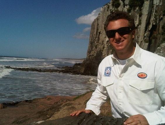 Luciano Huck no Parque Estadual de Torres, no Rio Grande do Sul (19/10/10)