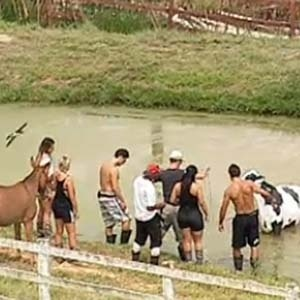 Peões tiram a vaca do lago (4/11/10)