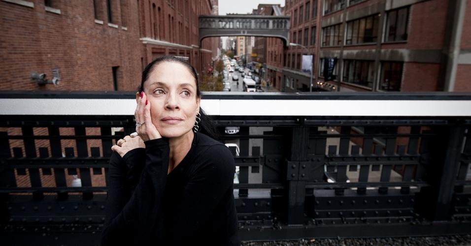 Atriz Sônia Braga posa para entrevista da Folha de S.Paulo em Nova York (4/11/2010)