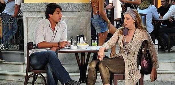 Eduardo Magalhães e Claudia Raia em cena de