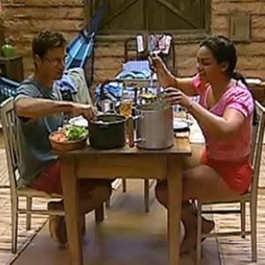 Sergio Abreu e Andressa Soares almoçam na Roça (1/12/10)