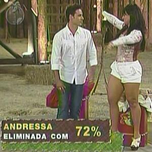 Andressa recebeu 72%dos votos do público (2/12/10)