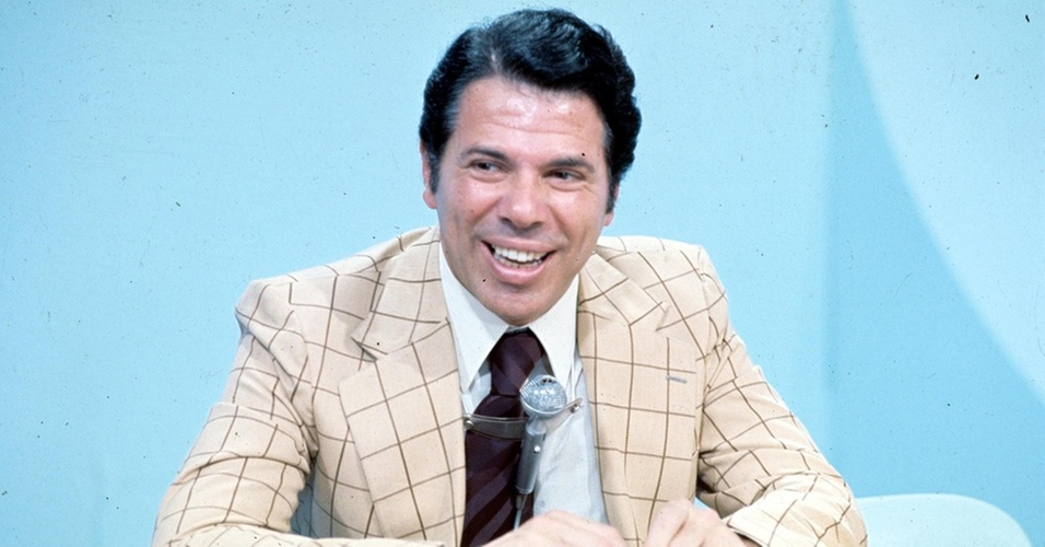 O apresentador Silvio Santos nos anos 70