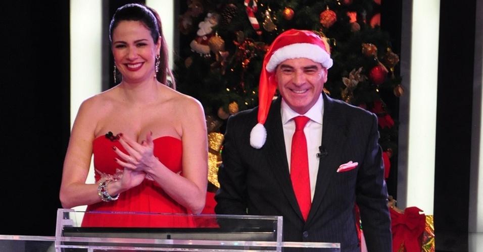 Luciana Gimenez e Marcelo de Carvalho no Mega Senha especial de Natal (25/12/10)