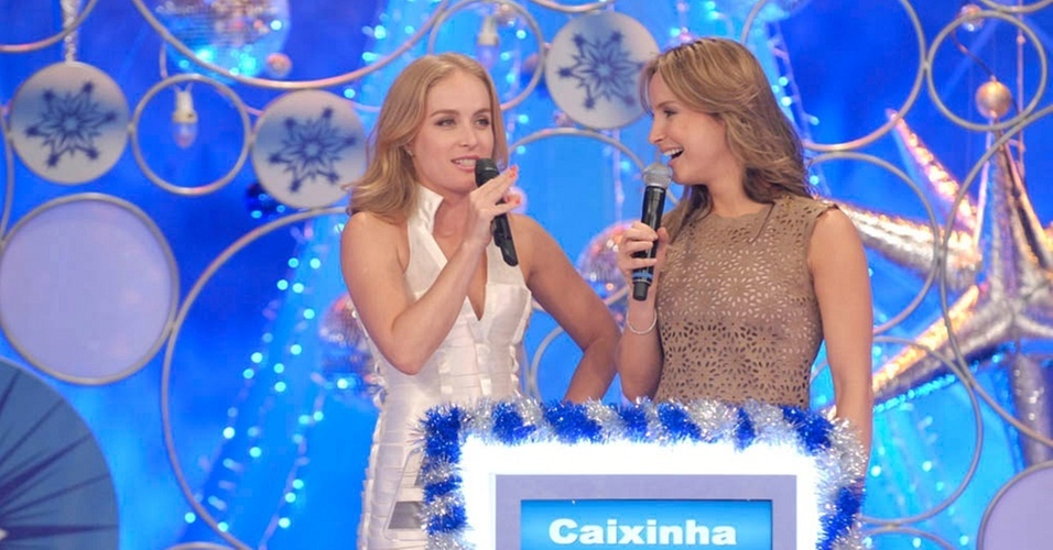 Anglica e Claudia Leitte durante gravao do 