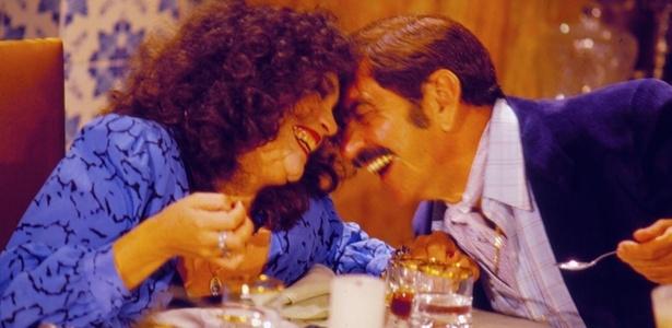 Regina Duarte e Lima Duarte em cena de Roque Santeiro, novela de Aguinaldo Silva, de 1985