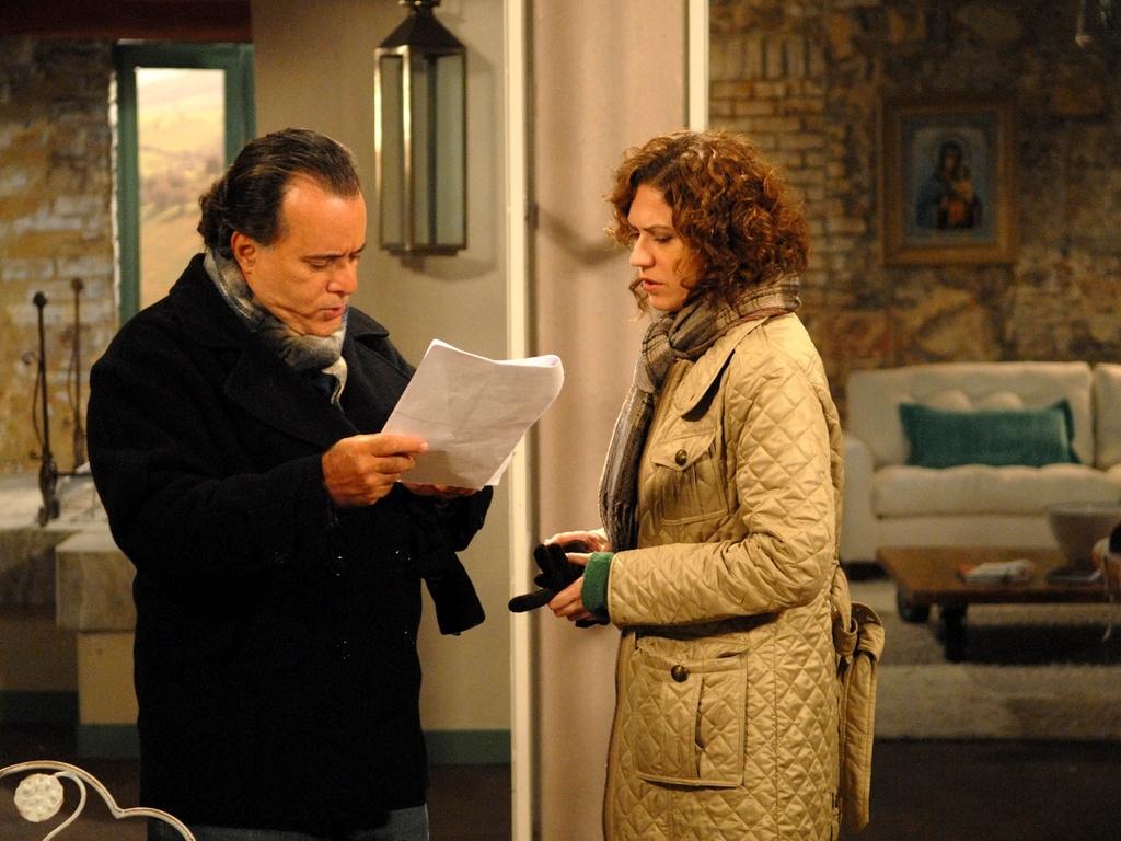 Tony Ramos e Patrícia Pillar gravam cenas finais de