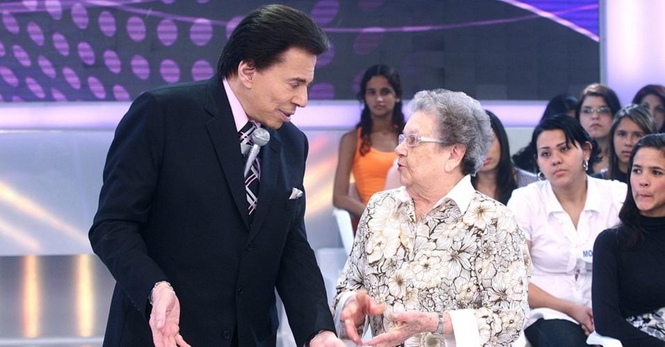 Silvio Santos recebe Palmirinha Onofre em seu programa (23/1/11)