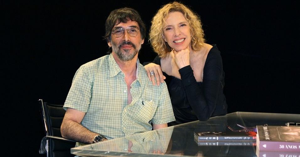 Marília Gabriela recebe o cantor Lobão no