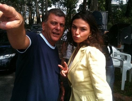 Jorge Fernando e Isis Valverde gravam cenas em São Paulo (10/3/11)